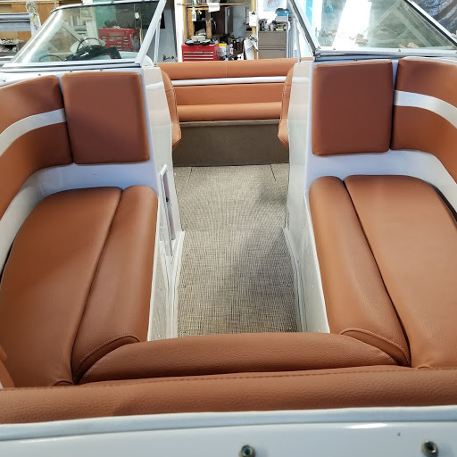 brown with cream seats