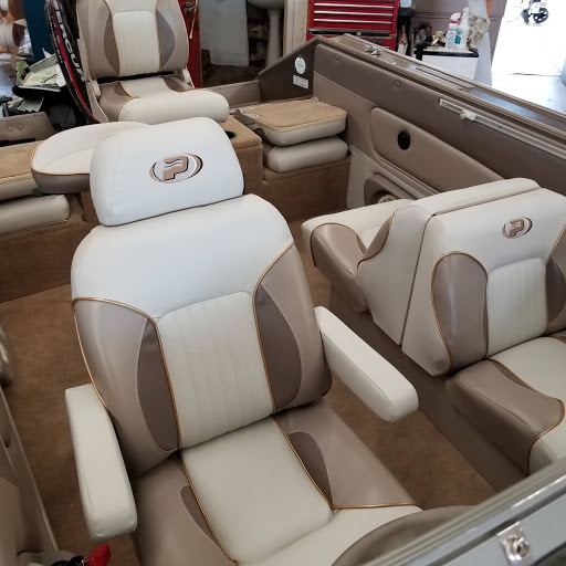 cream and brown seats